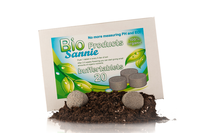 Buffertablets for organic plant nutrition and buffering soil